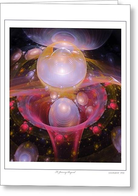 To Journey Beyond Greeting Card by Gayle Odsather