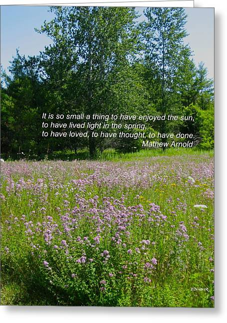To Live Light In The Spring Greeting Card