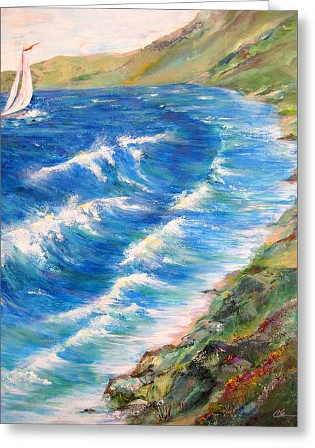 To Shore - Maui Greeting Card by Cheryl Ehlers