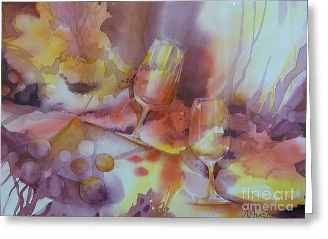 To The Bottom Of The Glass Greeting Card by Donna Acheson-Juillet