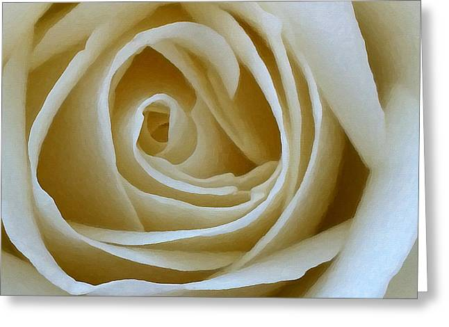 To The Heart Of The Rose Greeting Card