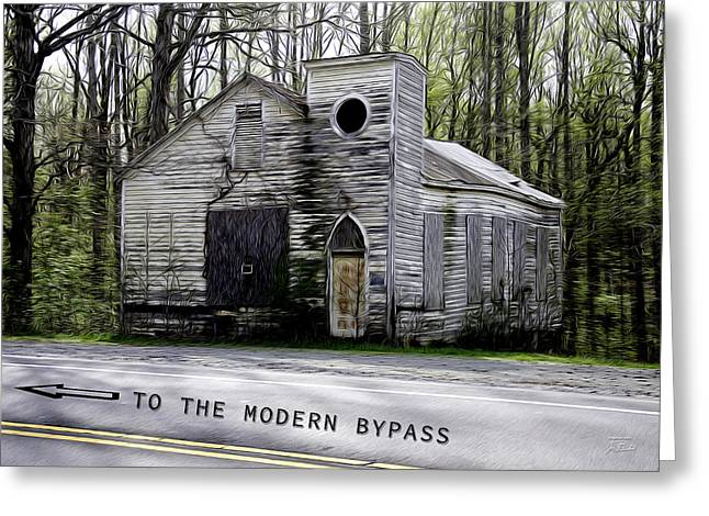 To The Modern Bypass Greeting Card