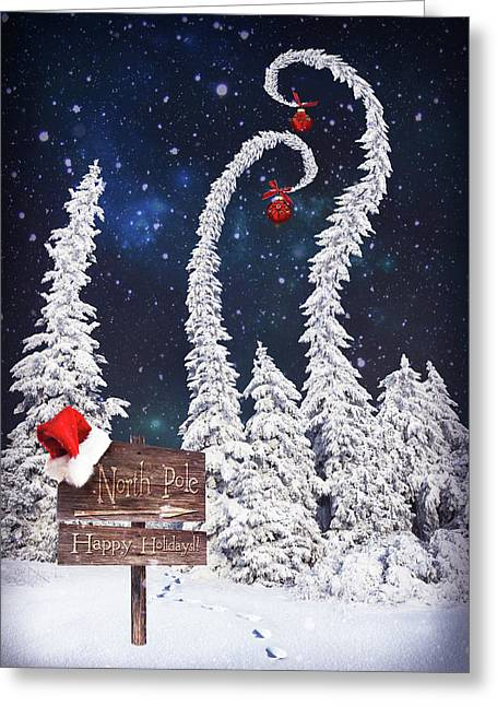 To The North Pole Greeting Card