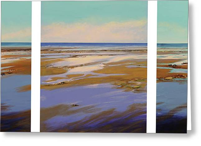 Reflections Of Sky In Water Greeting Cards - To The Sea Greeting Card by Sandra  Francis