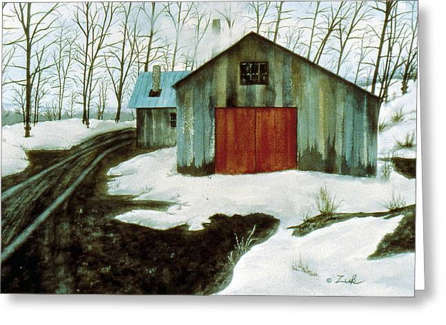 To The Sugar House Greeting Card