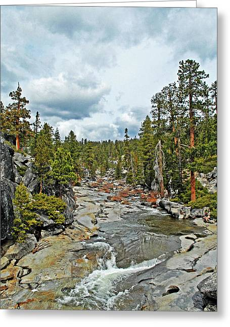 To The Top Of Yosemite Greeting Card