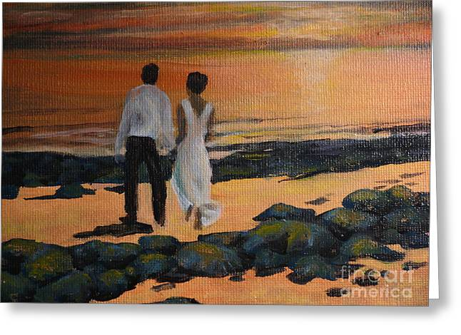 To Wed At Rocky Point Greeting Card by Terri Thompson