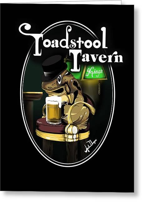 Toadstool Tavern  Greeting Card