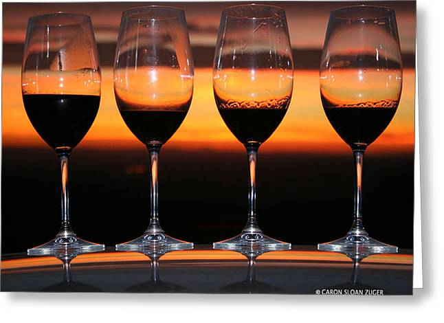 Toast At Sunset Photograph Greeting Card by Caron Sloan Zuger