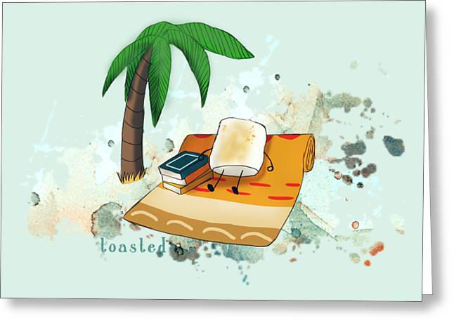 Toasted Illustrated Greeting Card by Heather Applegate
