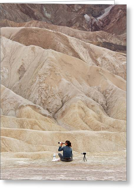 Getting Toasted In The Desert - Death Valley National Park Greeting Card