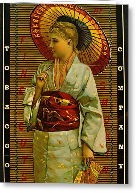 Tobacco Ad 1884 Greeting Card by Padre Art