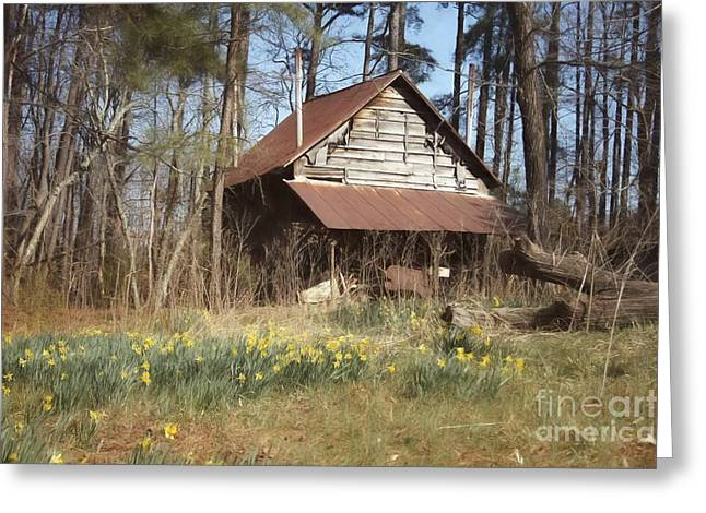 Greeting Card featuring the photograph Tobacco Barn In Spring by Benanne Stiens