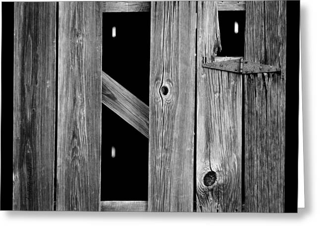 Tobacco Barn Wood Detail Greeting Card by Chris Berry