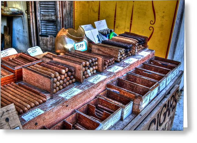 Cigar Greeting Cards - Tobacco Road Greeting Card by Debbi Granruth