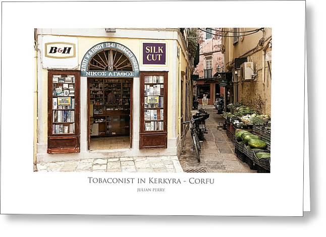 Tobaconist In Kerkyra - Corfu Greeting Card