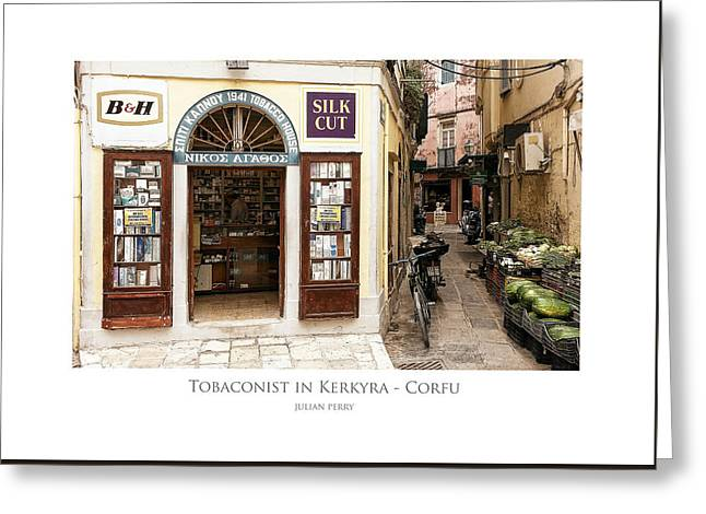 Tobaconist In Kerkyra - Corfu Greeting Card