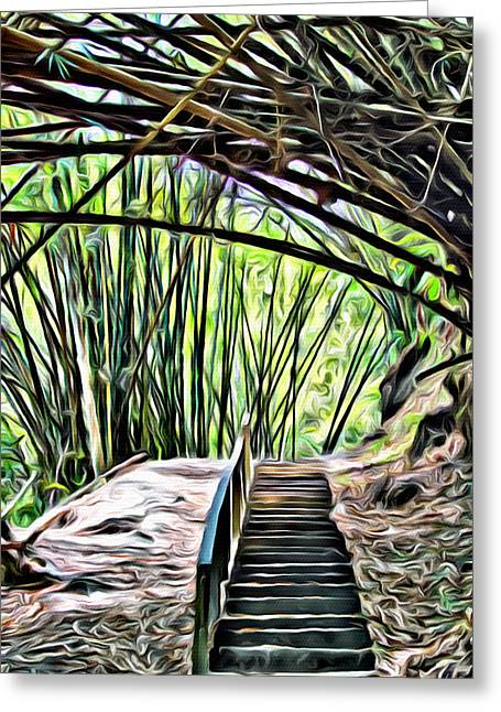 Tobago Rainforest Greeting Card by Anthony C Chen