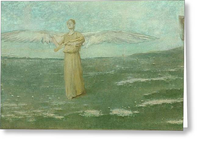 Tobias And The Angel Greeting Card by Thomas Wilmer