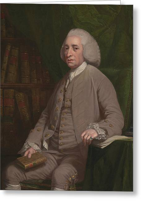 Tobias Smollet Greeting Card by Nathaniel Dance