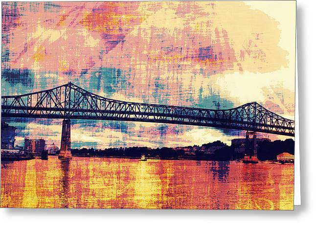 Tobin Bridge Boston Ma Greeting Card