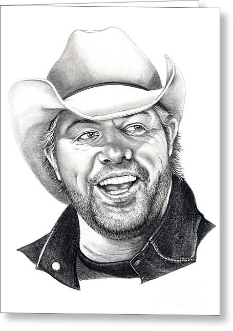 Toby Keith Greeting Card by Murphy Elliott