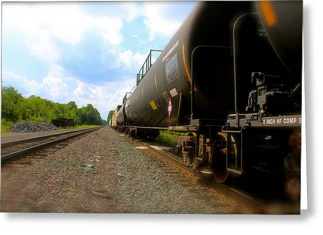 Tobyhanna Freight Train Greeting Card