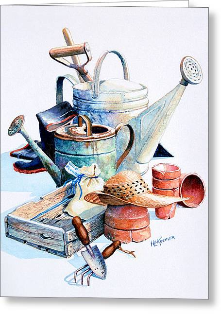 Todays Toil Tomorrows Pleasure II Greeting Card by Hanne Lore Koehler