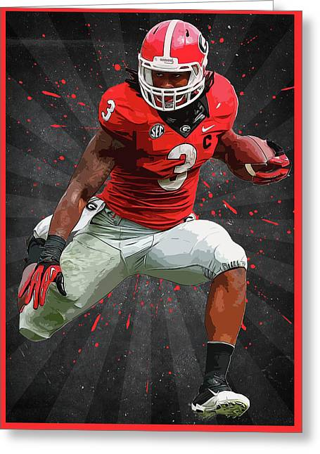 Todd Gurley Greeting Card by Semih Yurdabak