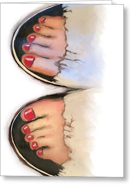 Toes 01 Greeting Card