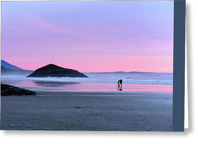 Tofino Sunset Greeting Card by Keith Boone