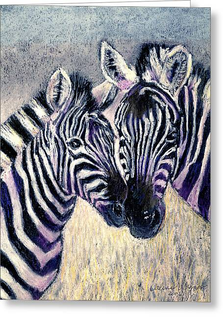Stripes Pastels Greeting Cards - Together Greeting Card by Arline Wagner