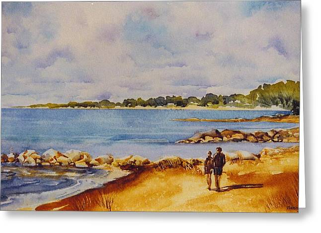 Together-at-georgian-bay Greeting Card by Nancy Newman