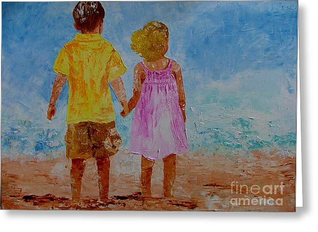 Together Greeting Card by Inna Montano