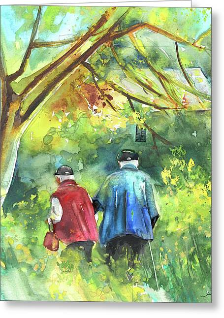 Older Couple Greeting Cards - Together old  in Italy 07 Greeting Card by Miki De Goodaboom