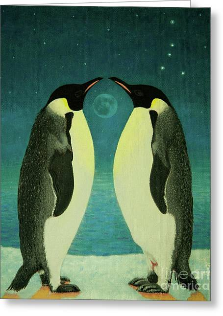 Together Under The Moon Greeting Card by Shelley Irish