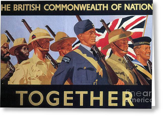 Together, World War Two  Recruitment Poster  Greeting Card