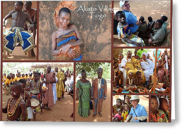 Togo Village In West Africa Collage Greeting Card