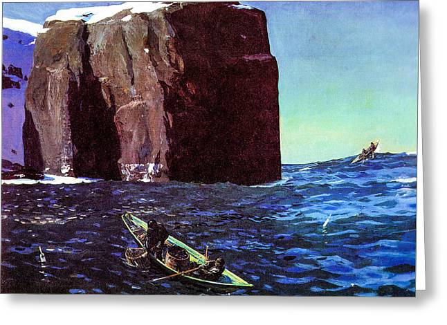 Toileers Of The Sea 1907  Greeting Card by Rockwell Kent