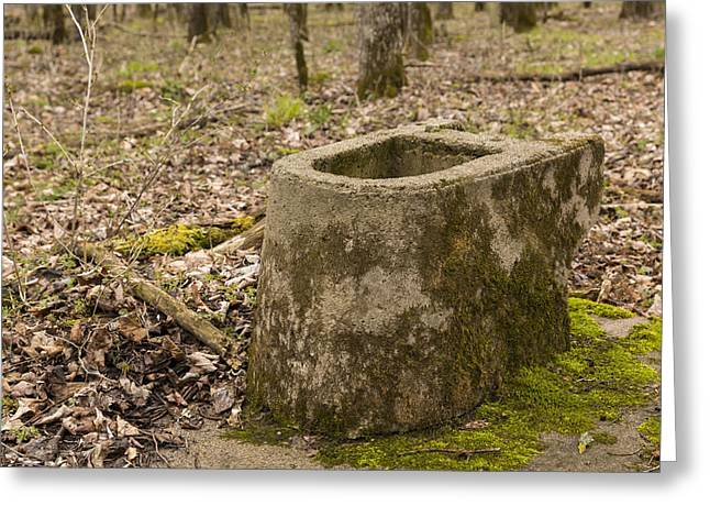 Toilet Remains 1 A Greeting Card by John Brueske