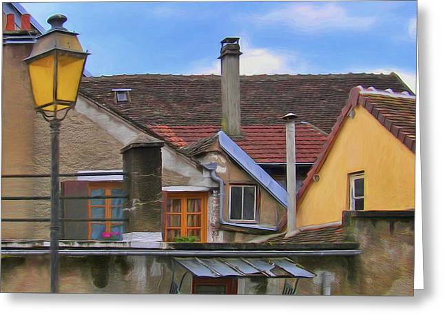 Toits De Joigny - Roofs Of Joigny Greeting Card