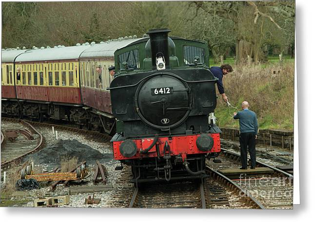 Token Pannier Tank  Greeting Card by Rob Hawkins
