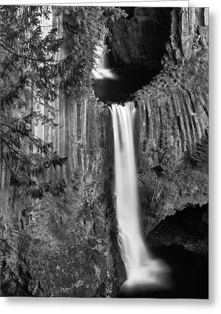Toketee Falls Greeting Card by Leland D Howard