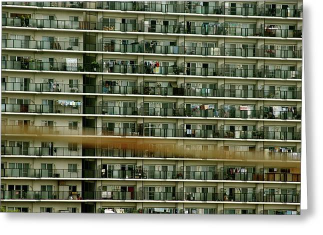 Tokyo Apartments Greeting Card By Jerry Patterson