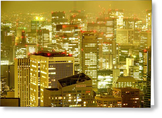 Tokyo At Night. Pic.4 Greeting Card by Oleg Volkov
