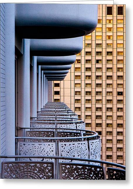 Tokyo Balconies Greeting Card