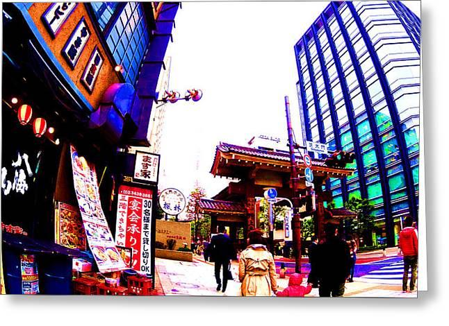 Tokyo Greeting Card by Jera Sky