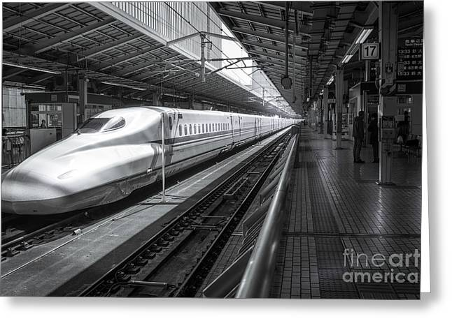 Tokyo To Kyoto, Bullet Train, Japan Greeting Card