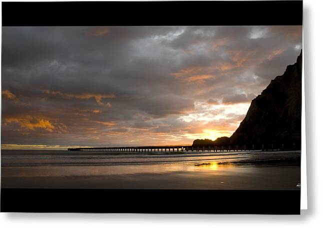 Tolaga Bay Pier II Greeting Card by Andrea Cadwallader