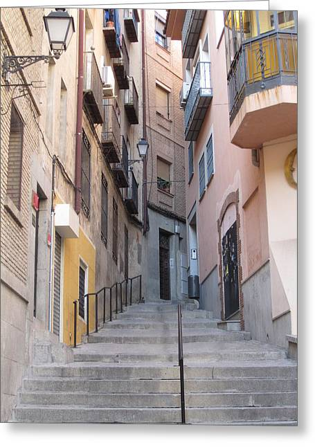 Toledo Alley Steps Greeting Card